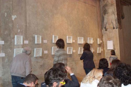 """Sabrina D'Alessandro, """"Asta di parole"""", Basilica di Sant'Ambrogio, Milano 2014, URPS, Ufficio Resurrezione Parole Smarrite"""
