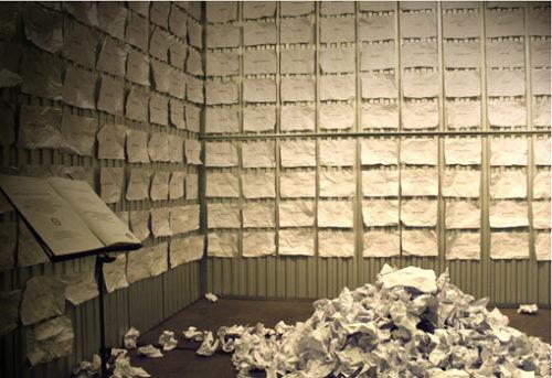 """Sabrina D'Alessandro, """"Cimitero delle parole altrimenti defunte"""", BoxShock, Milano, 2009, URPS, Ufficio Resurrezione Parole Smarrite"""