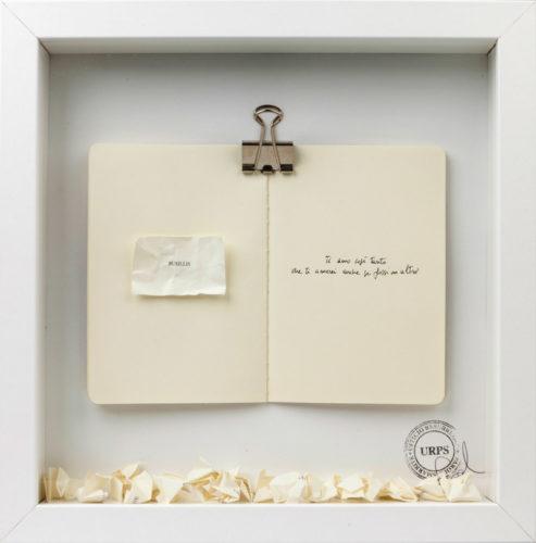 """Artista: Sabrina D'Alessandro, Versipiuvolo """"BUSILLIS"""", 2002-2017, URPS, Ufficio Resurrezione Parole Smarrite, Resurrection Office"""