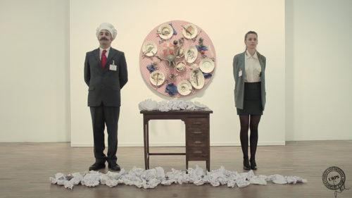 "Sabrina D'Alessandro, ""Parole Scilingue per Tableaux-Pieges"", in ""EatArt in trasformation"" di Daniel Spoerri, Galleria Civica di Modena 2015"